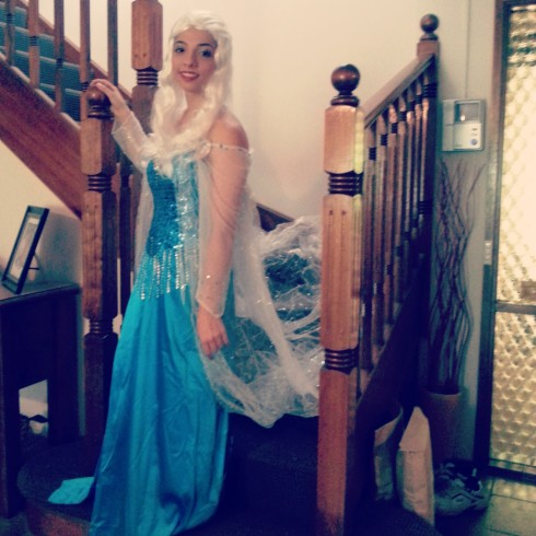 Introducing Elsa for FROZEN. Apart of the Gift of the Gab experience.